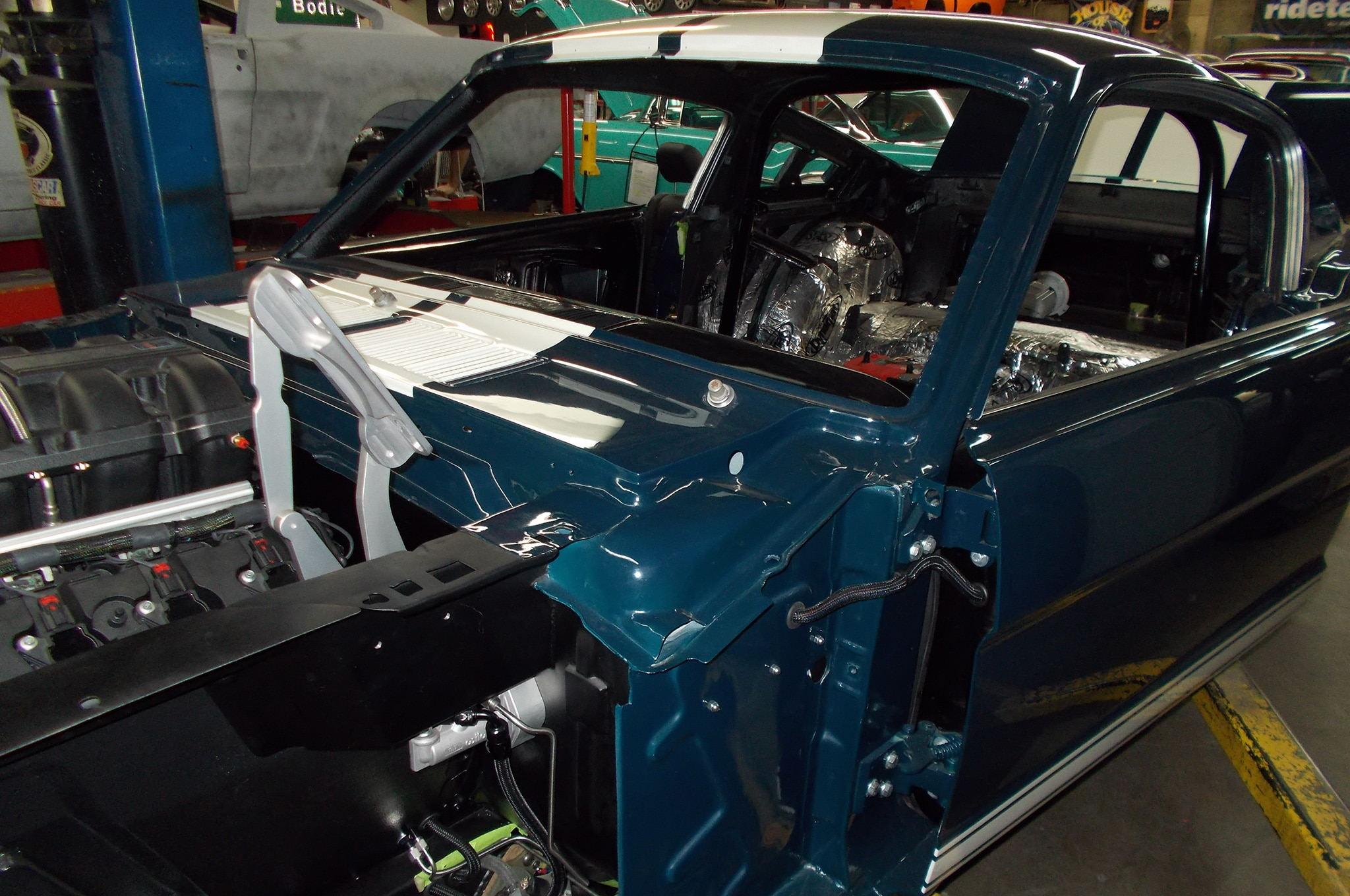 25 1965 Ford Mustang Engine Bay