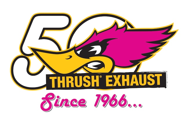Thrust Exhaust 50 Years Logo