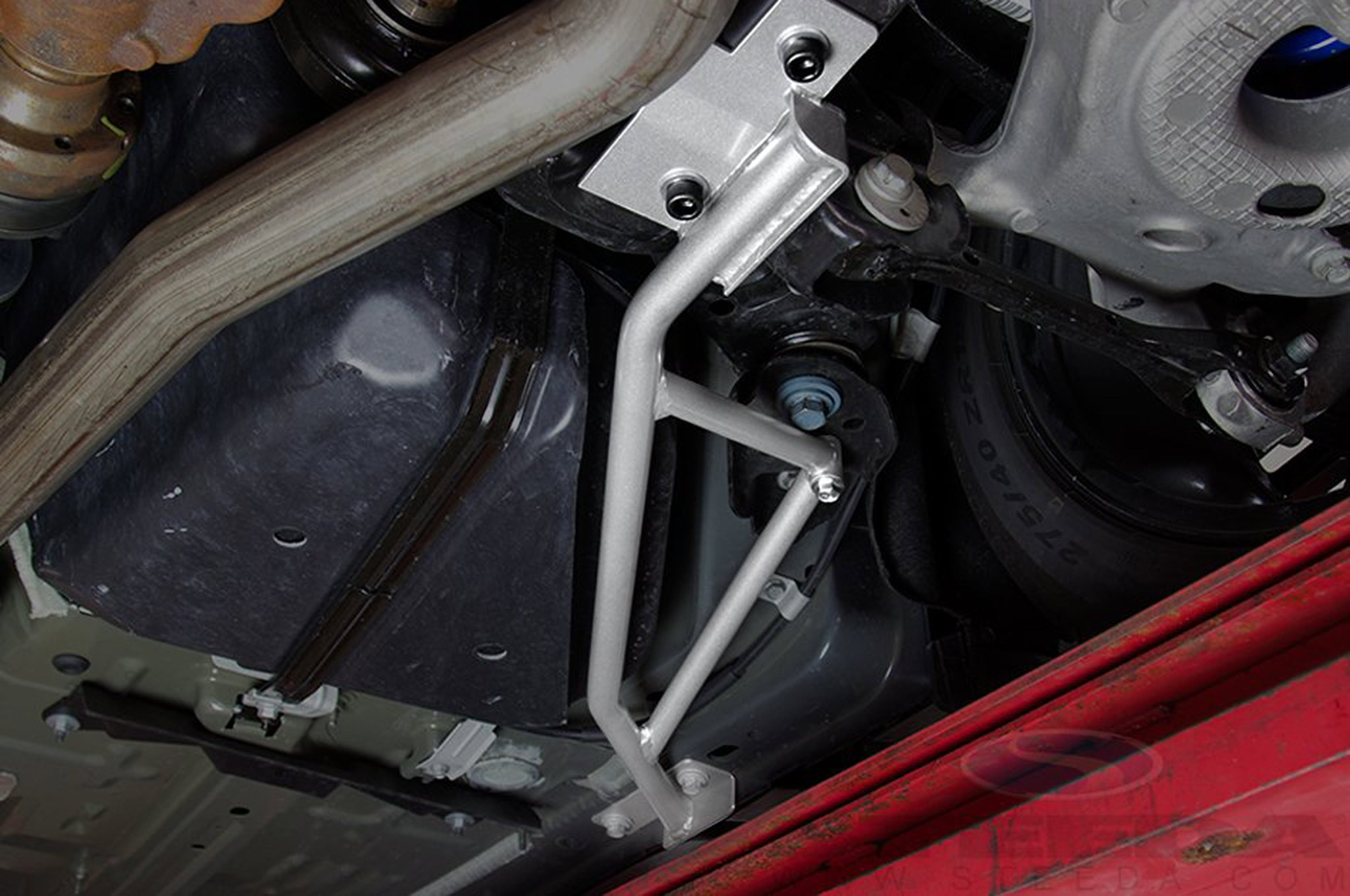 02 Steeda S550 Mustang Rear Irs Subframe Brace 2015 Coupe