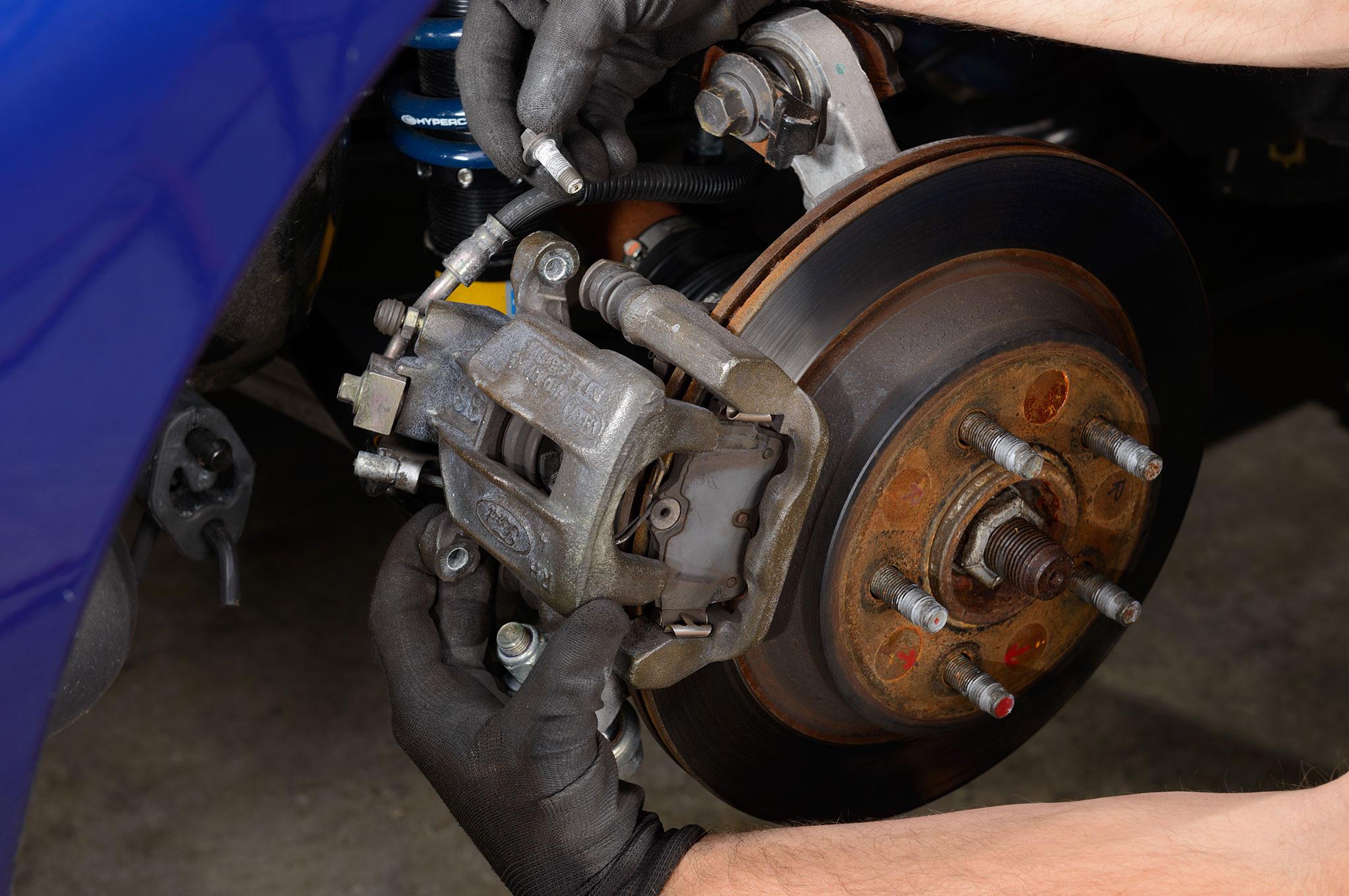 02 2003 Ford Mustang Cobra Removing Brake Caliper