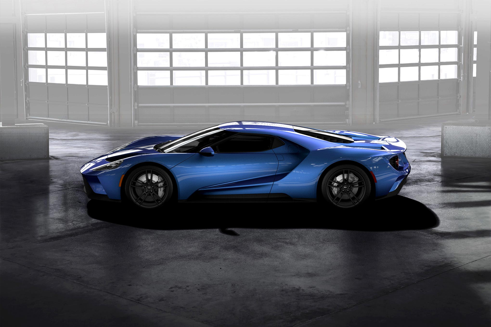 010 Liquid Blue Ford GT Profile