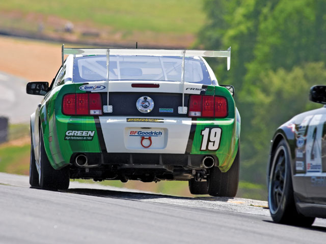 Ford Racing Mustang Challege Green Backside
