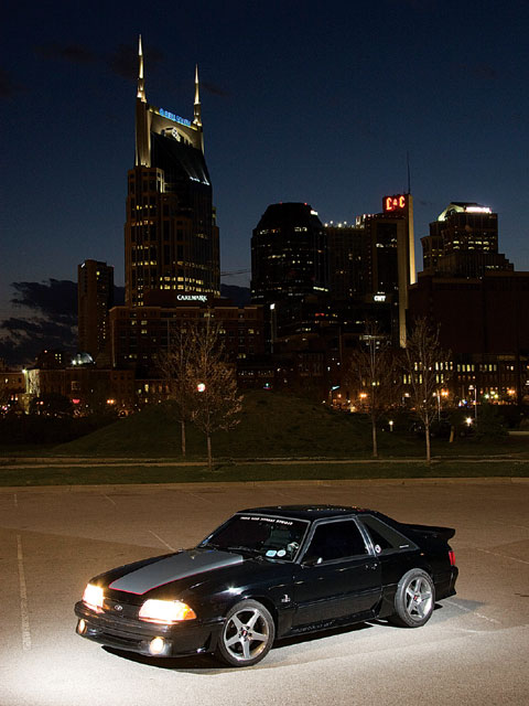 1993 Ford Mustang Gt Sideview Night