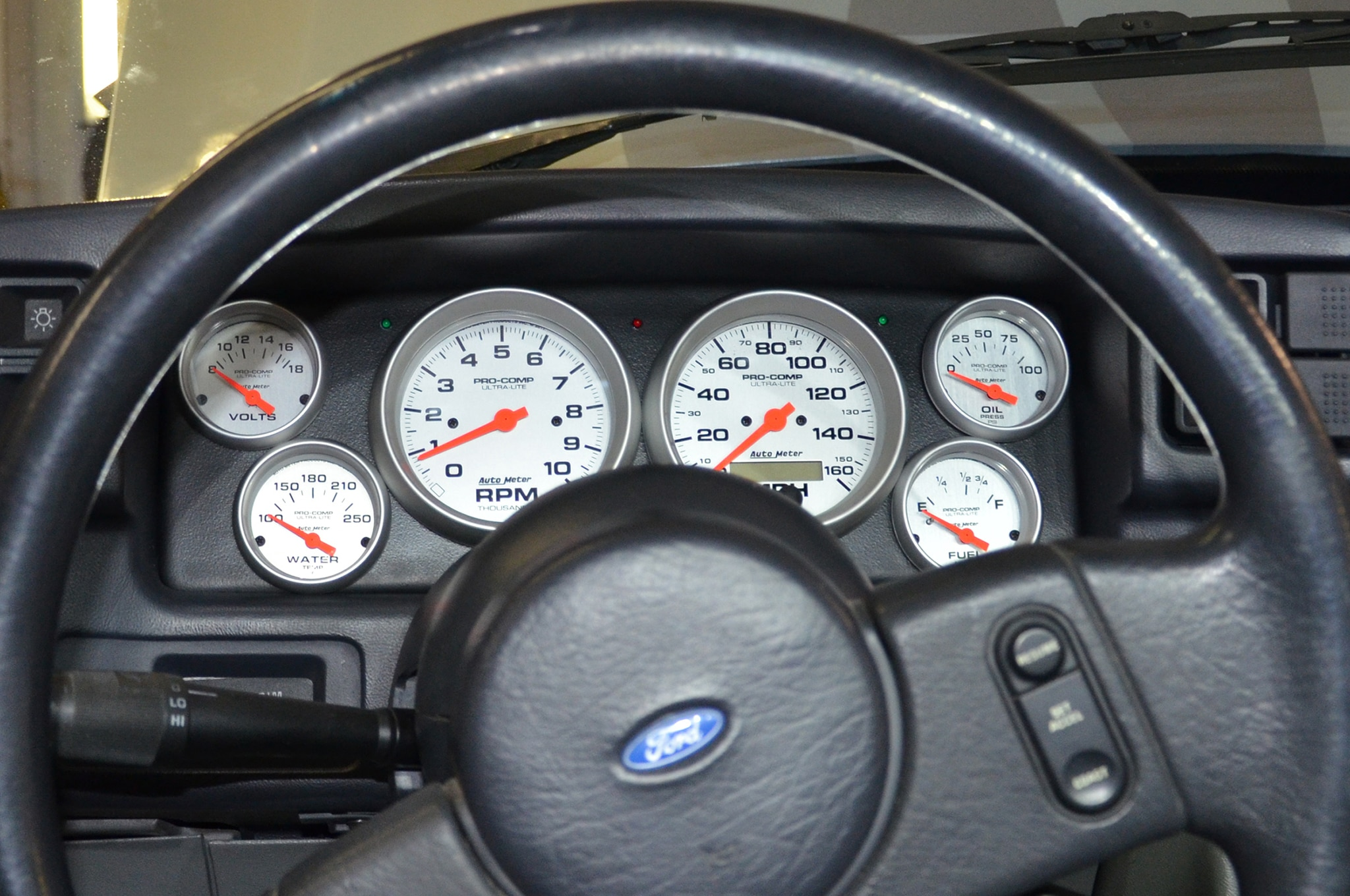 17 Classic Dash Gauge Panel Installed