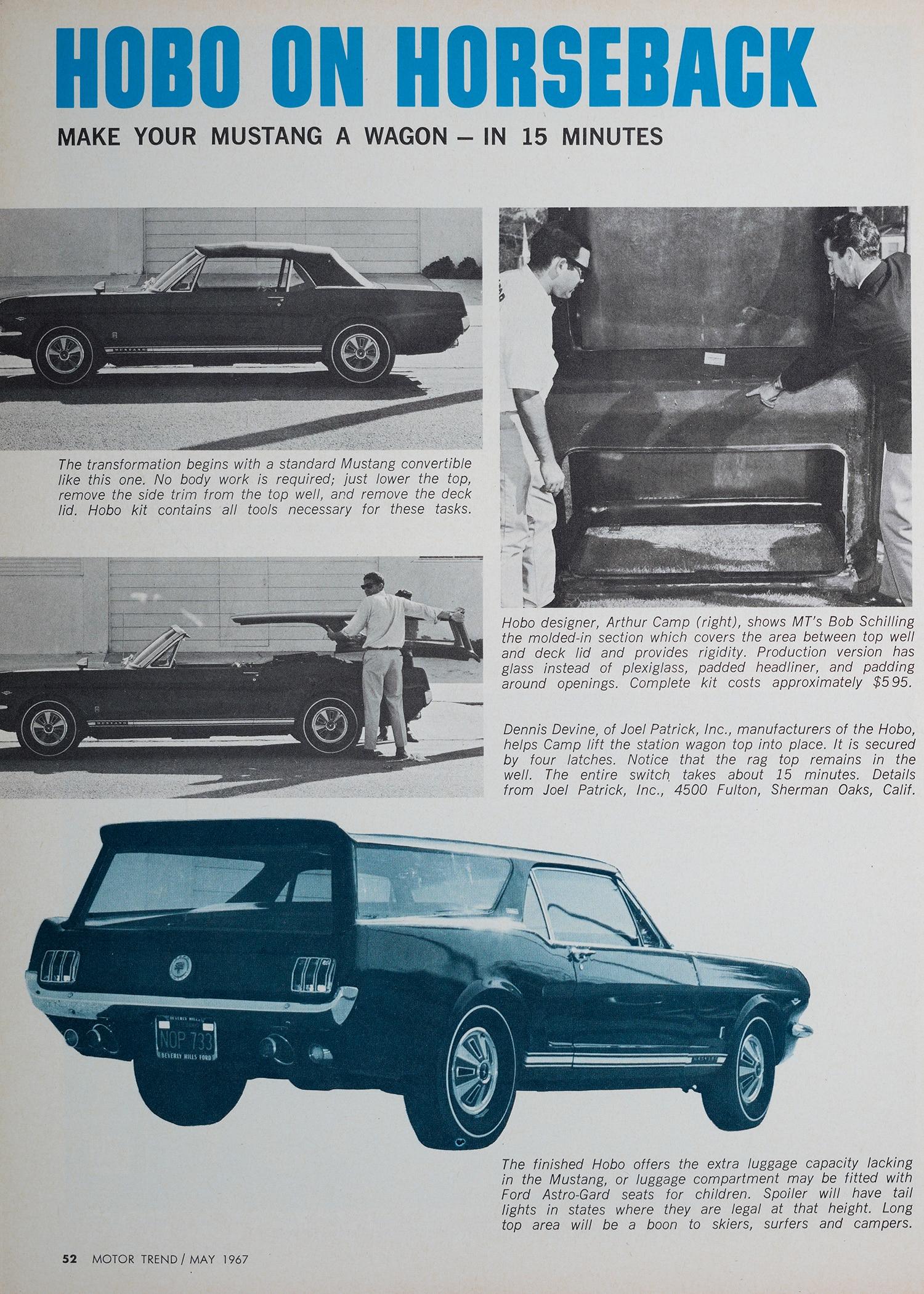 4 1965 Ford Mustang Tear Sheet
