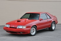 1986 Ford Mustang Svo Coyote Vermillion Red Front Side View