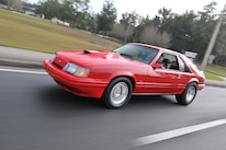 1986 Ford Mustang Svo Coyote Vermillion Red On The Road