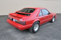 1986 Ford Mustang Svo Coyote Vermillion Red Rear Quarter