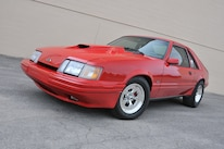 1986 Ford Mustang Svo Coyote Vermillion Red Front Quarter Low