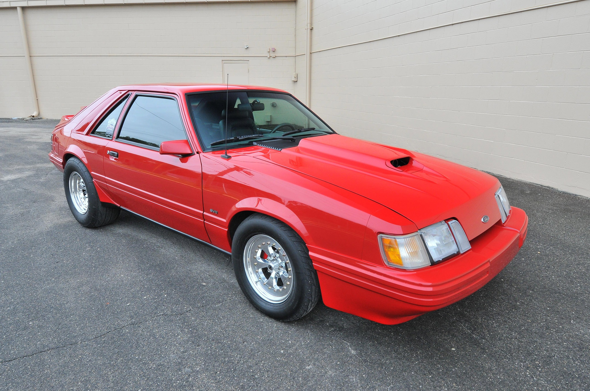 1986 Ford Mustang Svo Coyote Vermillion Red Passenger Side View