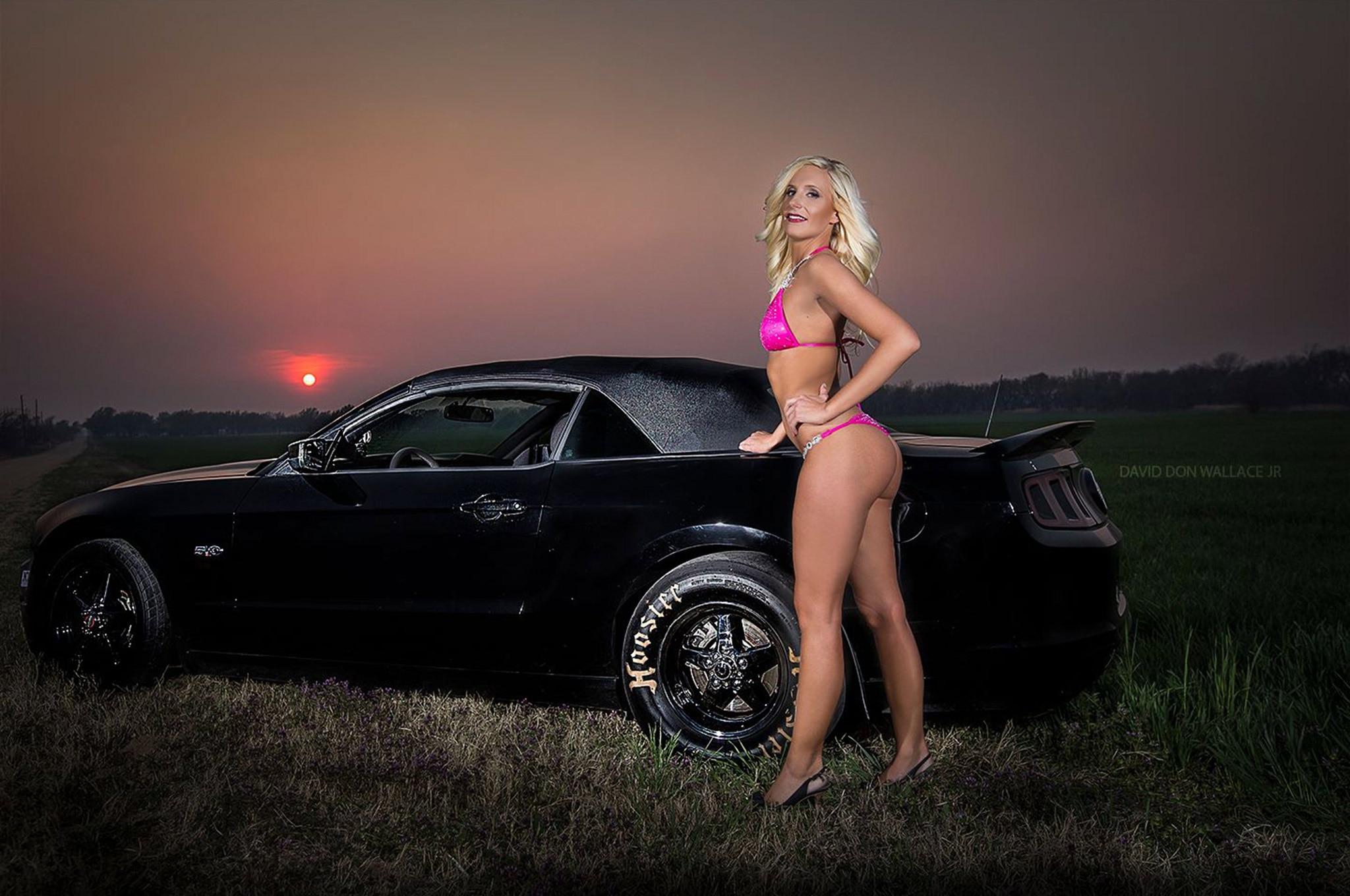 2013 Ford Mustang Gt Malorie Woods Bikini Shot