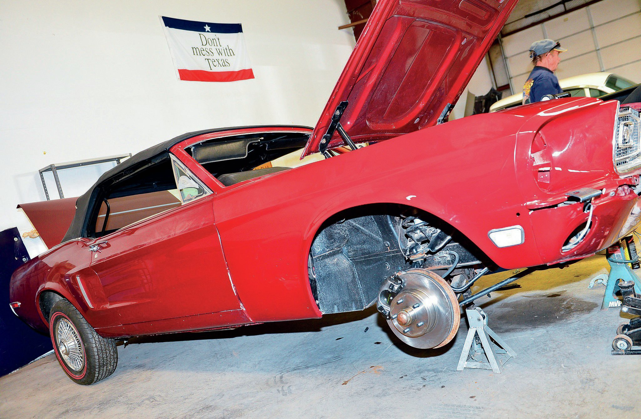 1968 Ford Mustang Convertible Front Side View