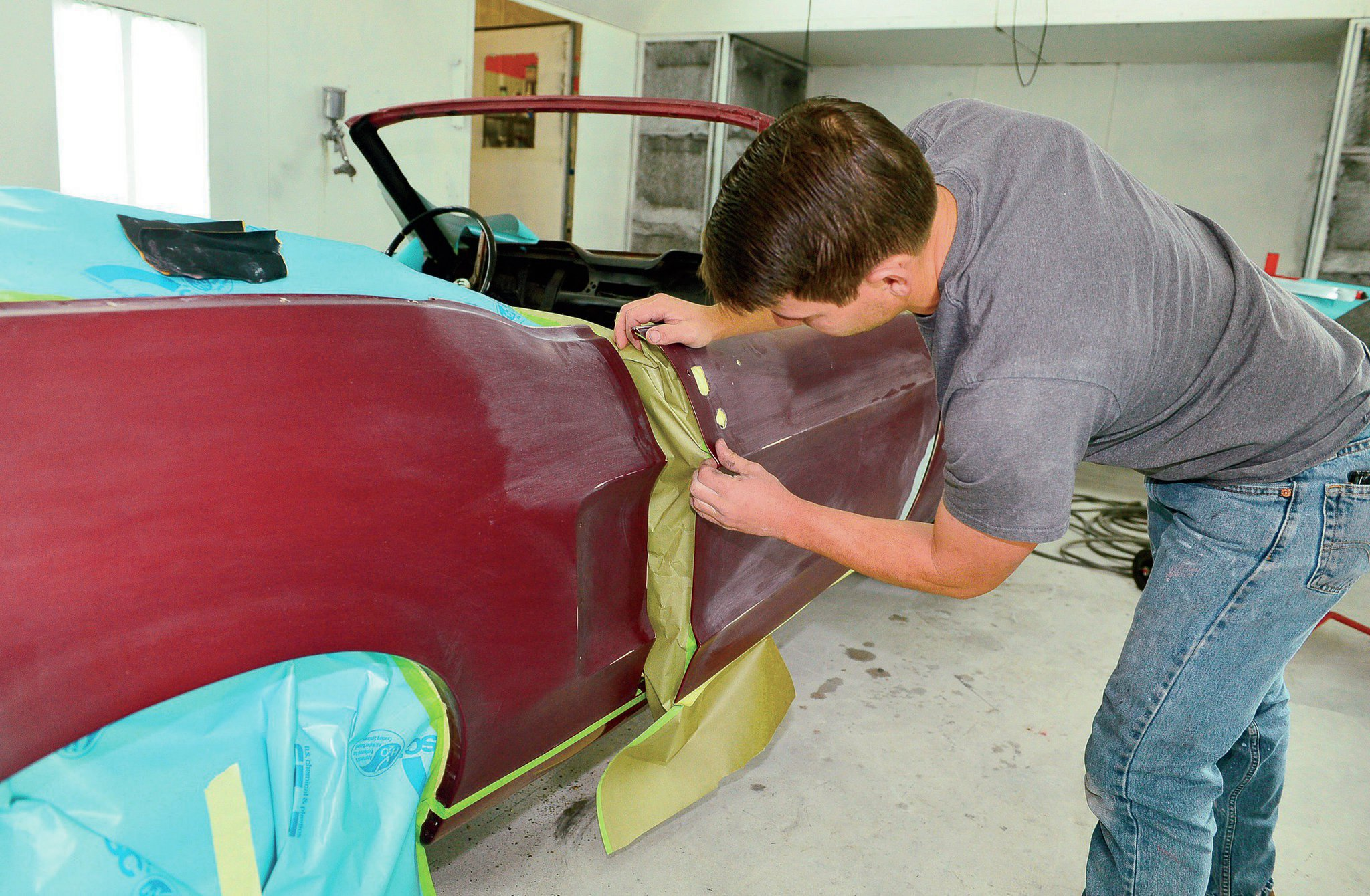 1968 Ford Mustang Convertible Taping Off