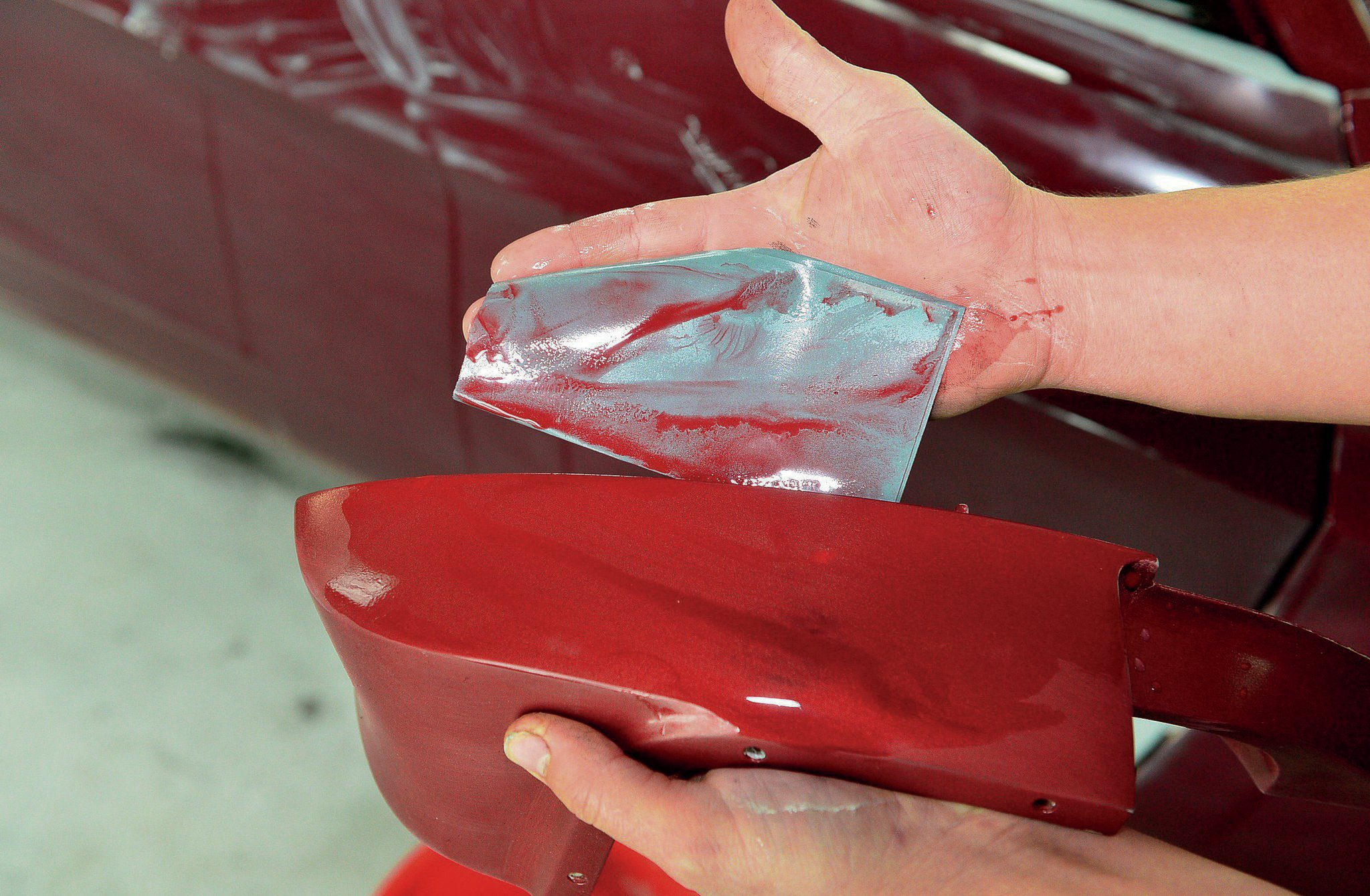 1968 Ford Mustang Convertible Wet Sanding Paint