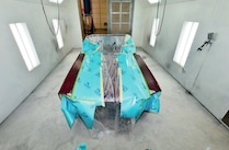 1968 Ford Mustang Convertible Spraying Clearcoat