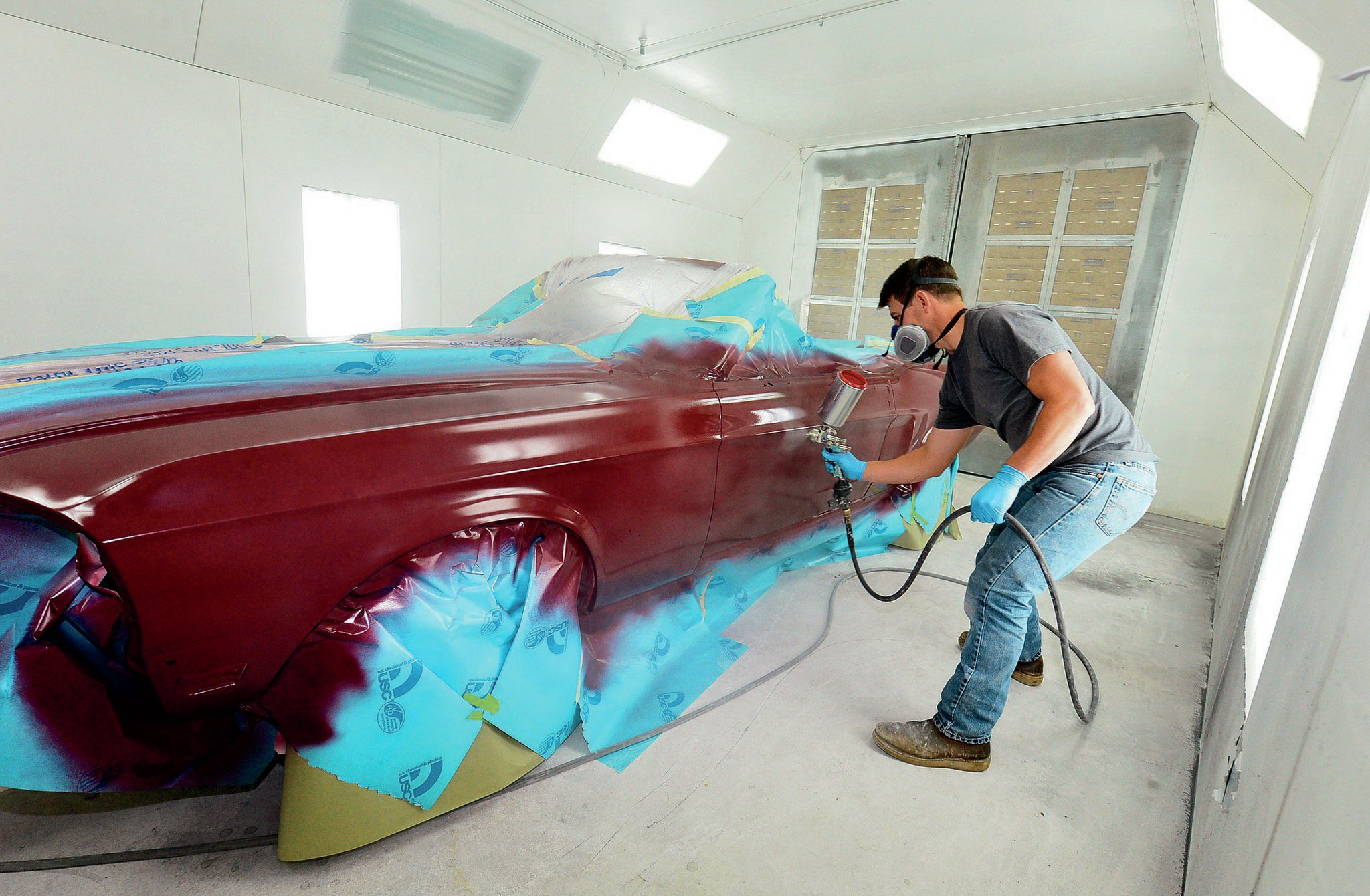 1968 Ford Mustang Convertible Royal Maroon Basecoat