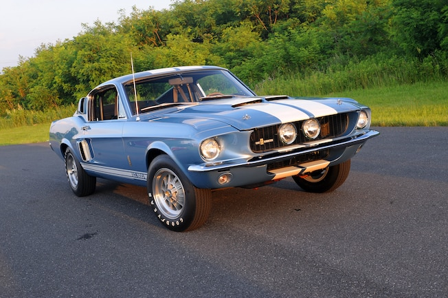 Brittany blue 1967 ford mustang g t 500