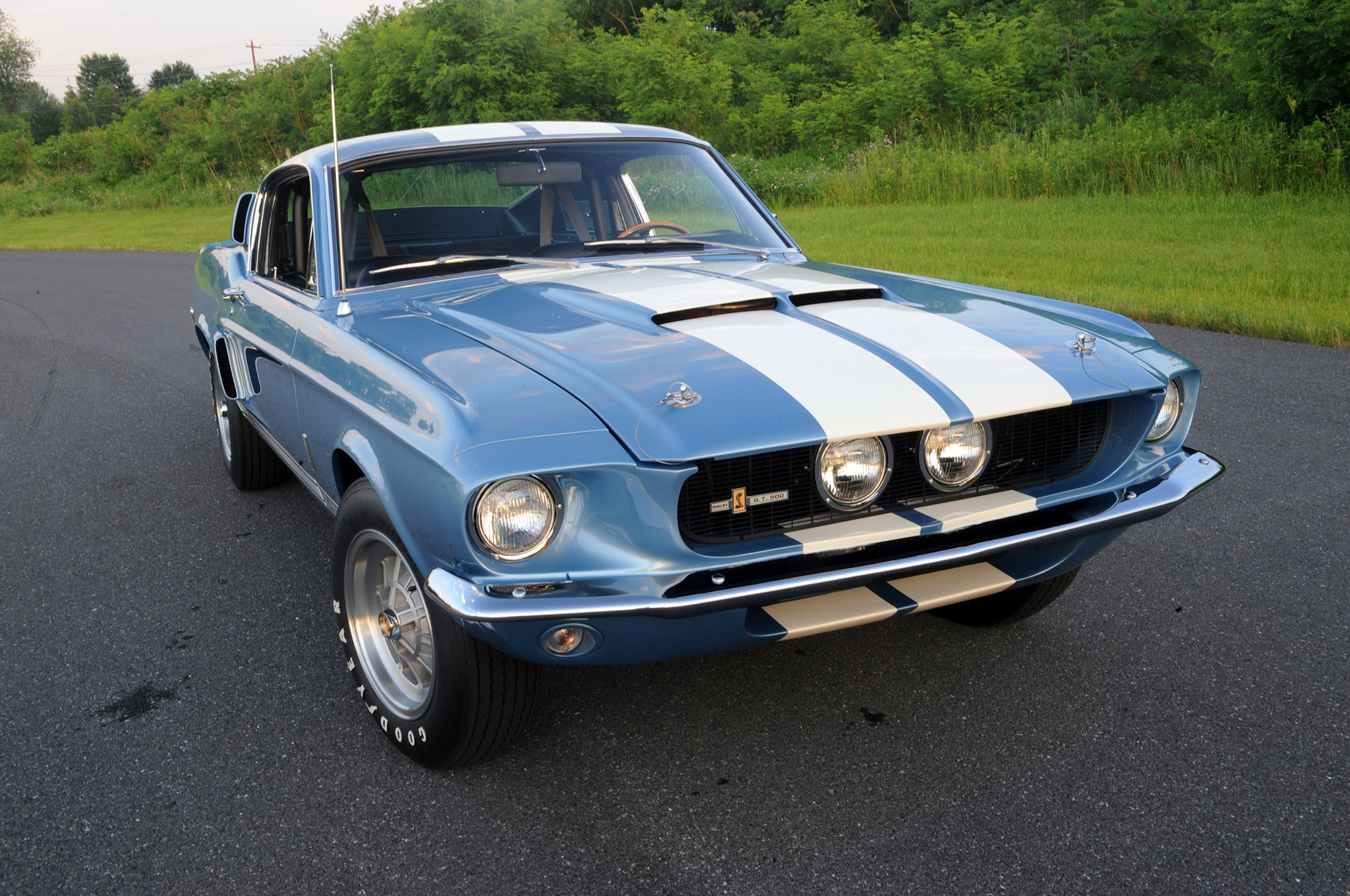 1967 Ford Mustang Shelby Gt500 Brittany Blue Grille - Photo