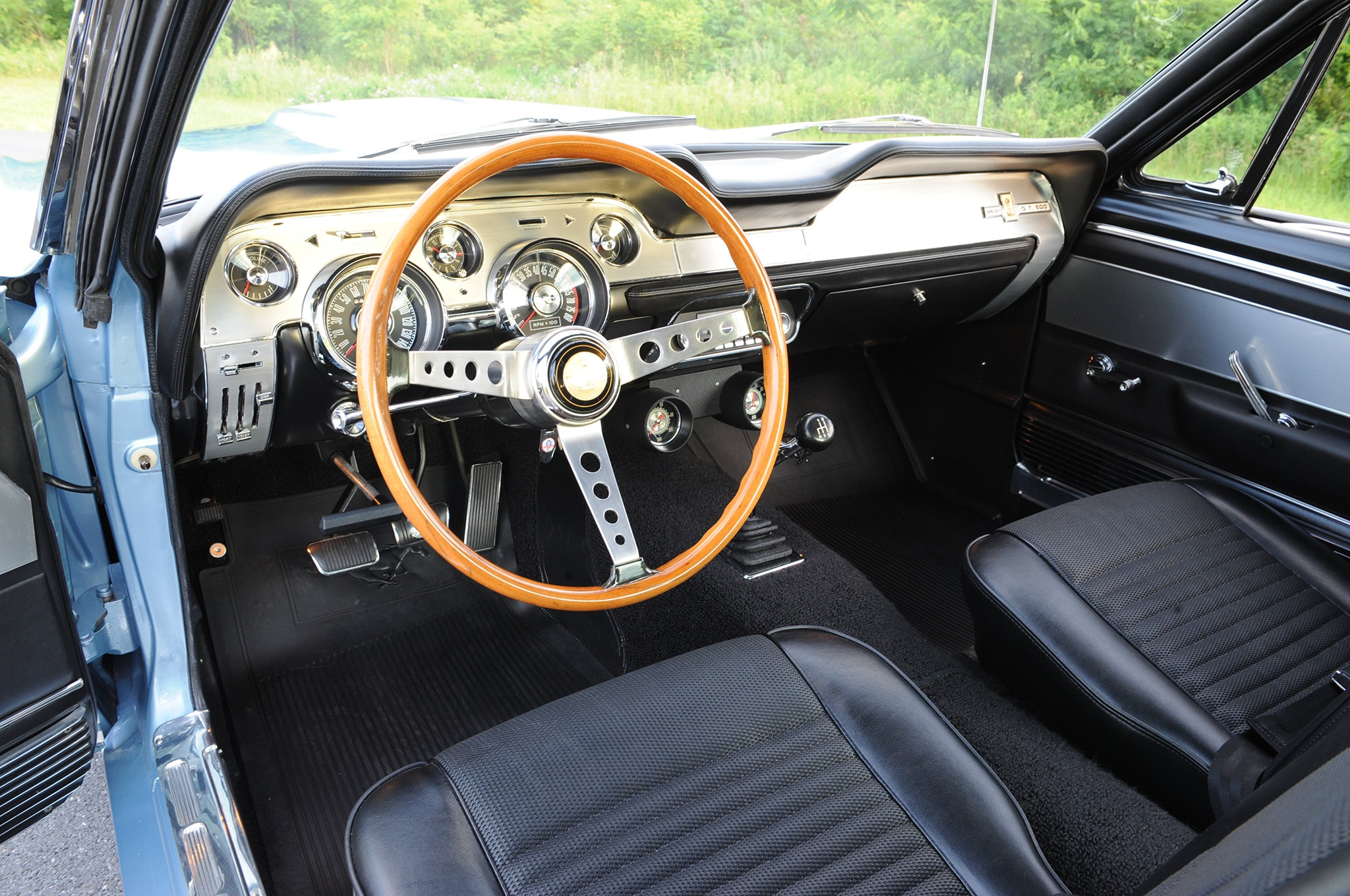 1967 ford mustang shelby gt500 brittany blue interior