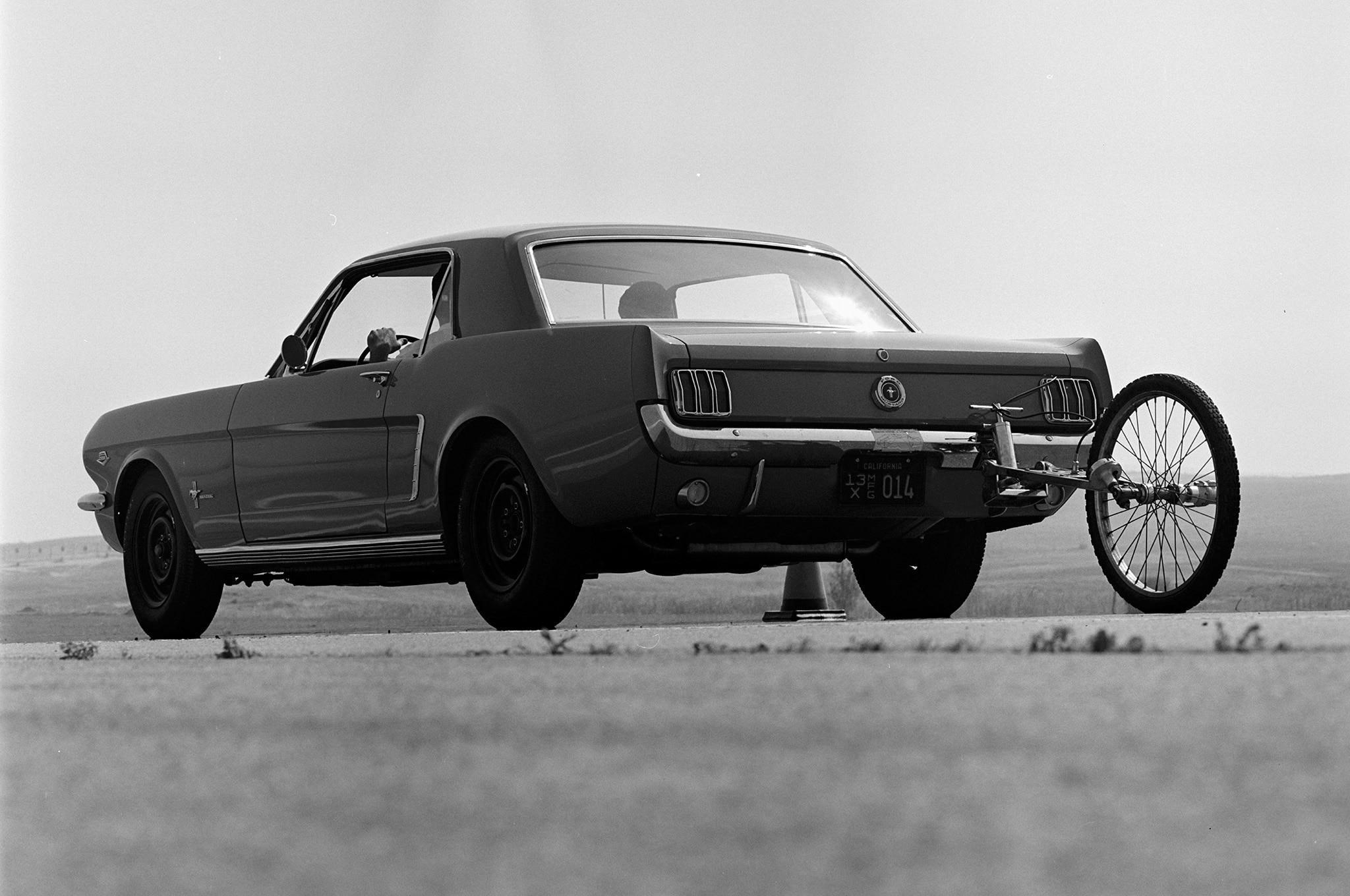 August 1964 Motor Trend Mustang Road Test Rear Quarter
