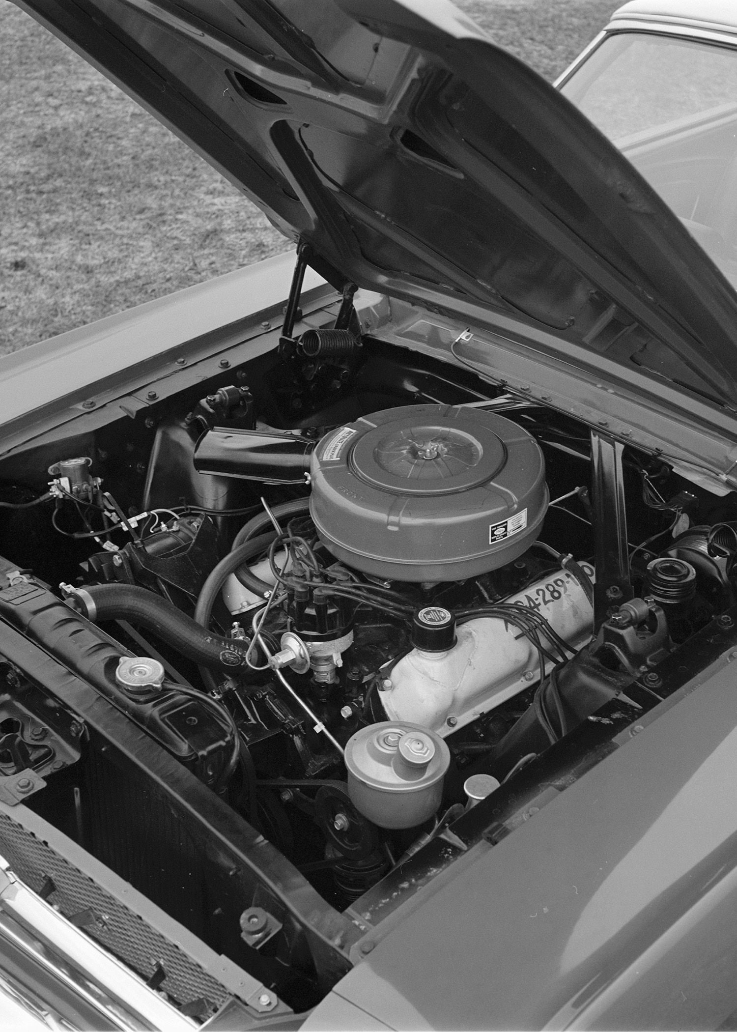 May 1964 Motor Trend Mustang Road Test Engine