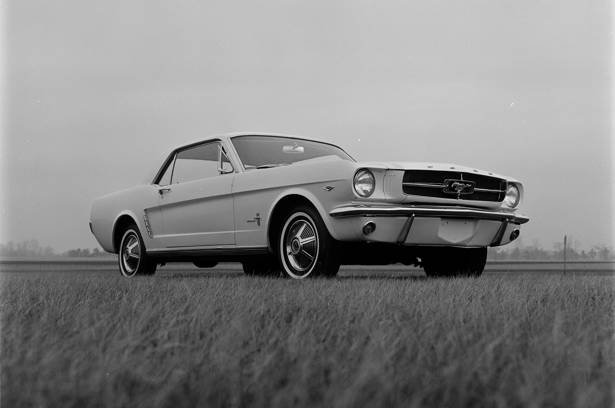May 1964 Motor Trend Mustang Road Test Front Quarter Low