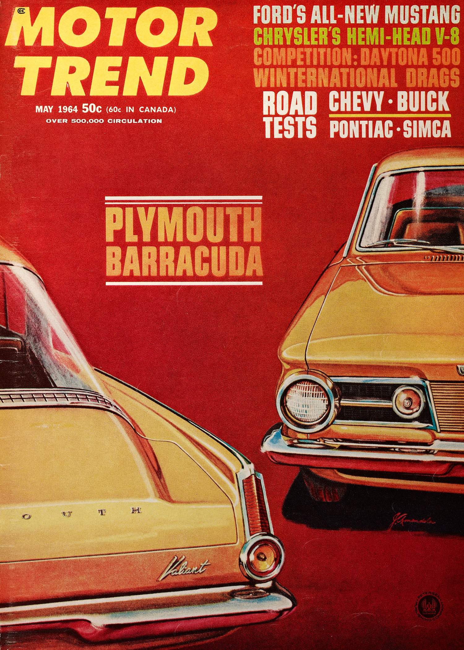 May 1964 Motor Trend Mustang Road Test Red Cover