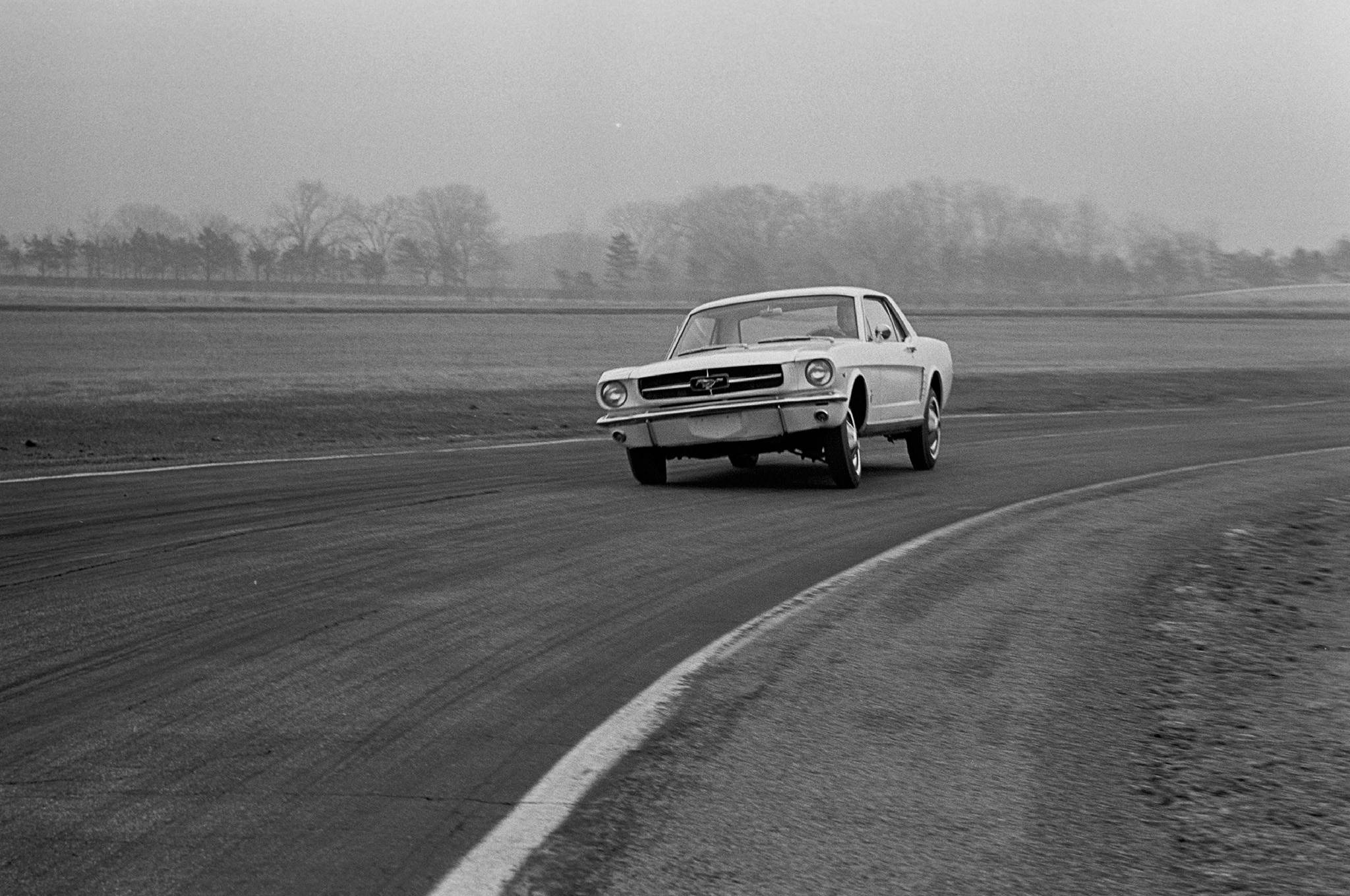 May 1964 Motor Trend Mustang Road Test Wheel Up