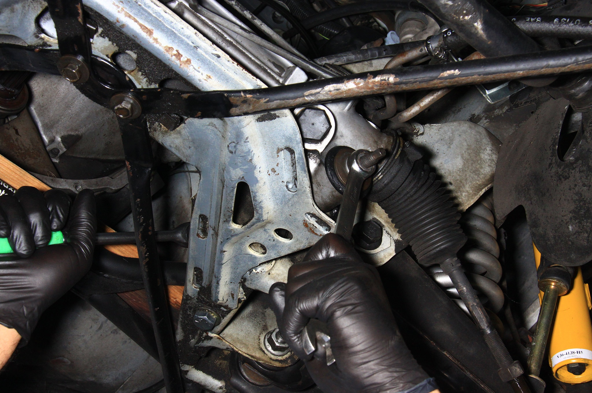 NPD Rack Install Fox Mustang Mount Bolts