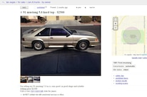 1991 Ford Mustang GT Craigslist Post