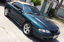 1997 Ford Mustang GT Convertible Pacific Green Front Three Quarter
