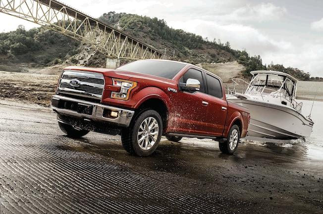 2017 Ford F 150 Red Towing