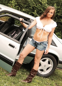 Jolynn Tomas Babe Of The Month Ford Mustang Fox Body