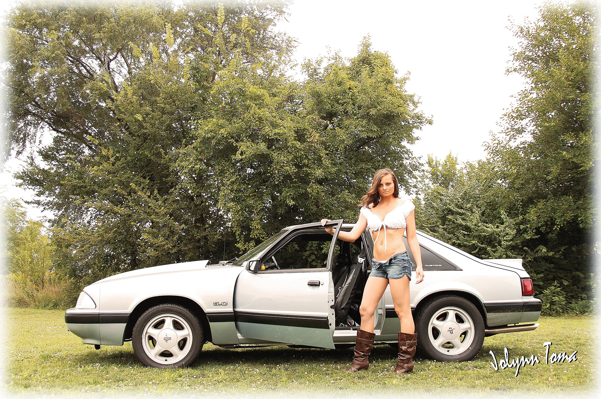 Jolynn Tomas Babe Of The Month Ford Mustang Side Profile