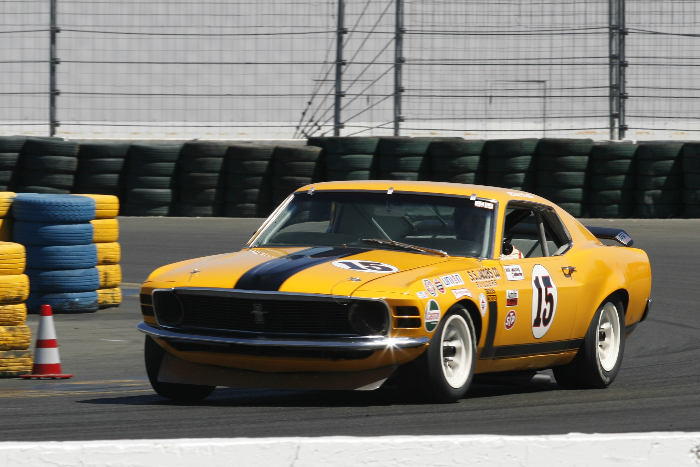 Yellow Black Mustang