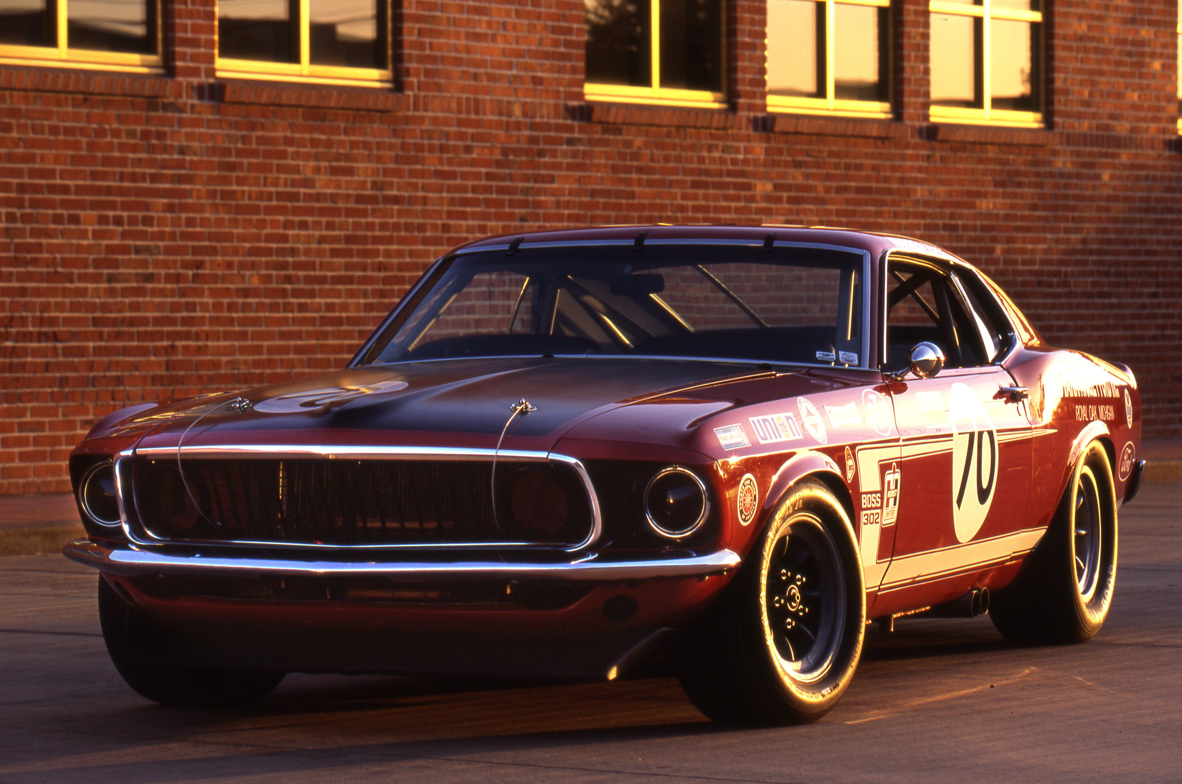 Red Ford Mustang