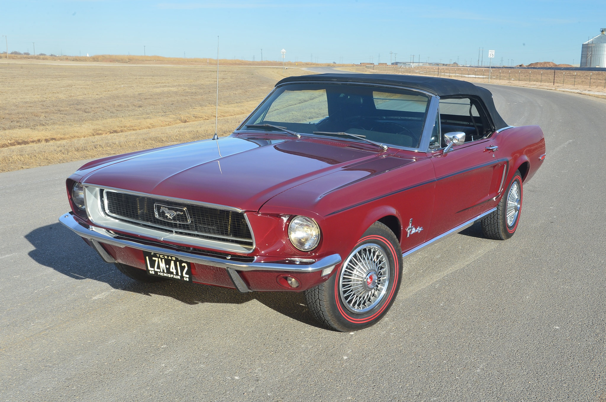1968 Ford Mustang Convertible Project Front Quarter View