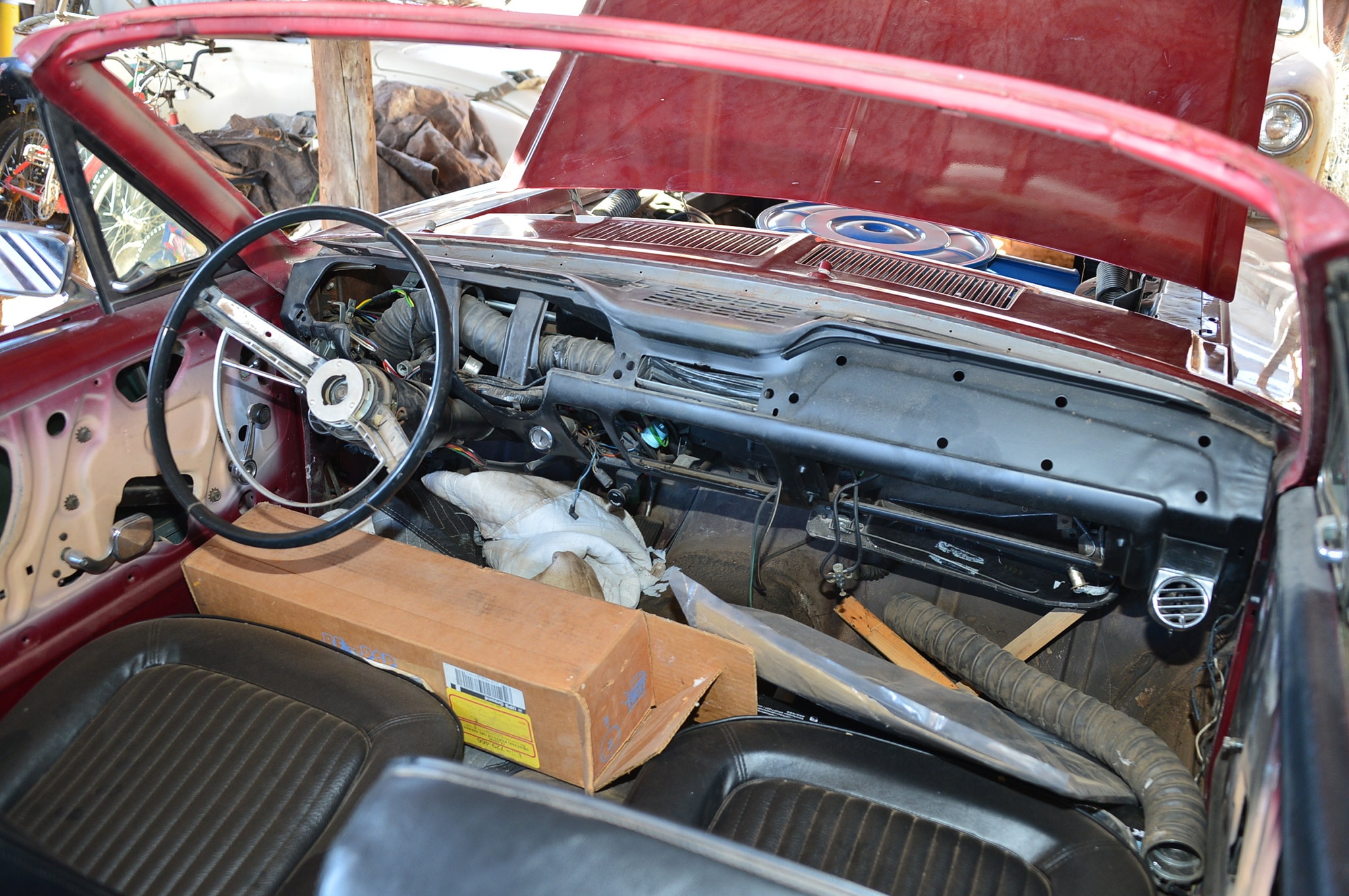 1968 Ford Mustang Convertible Project Interior Before