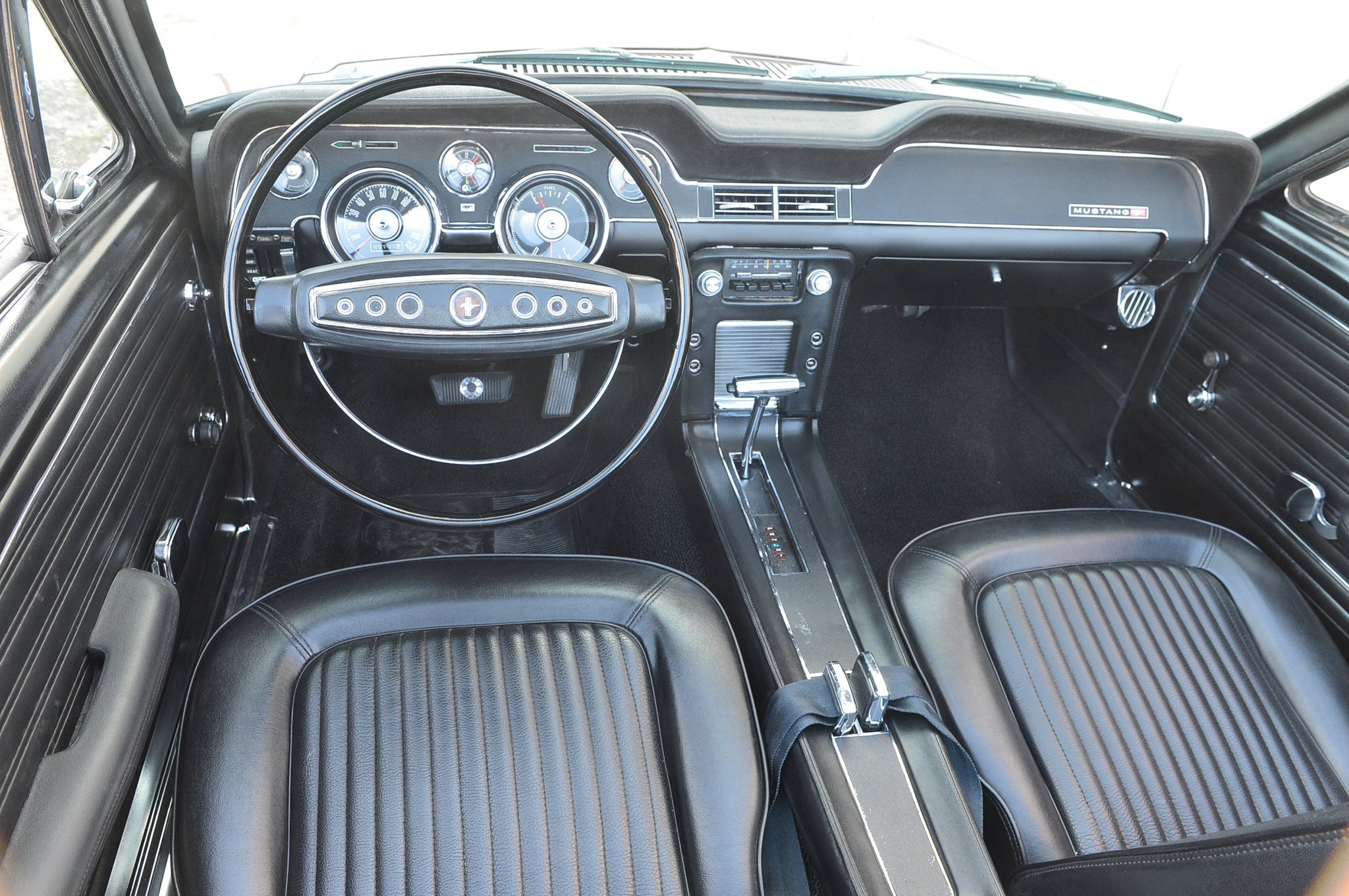 1968 Ford Mustang Convertible Project Interior After