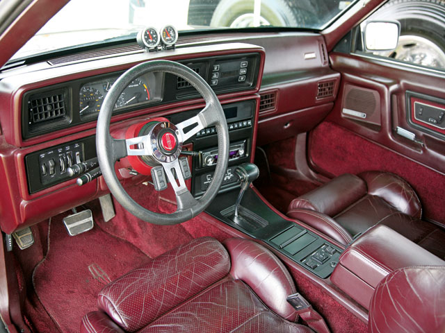 1988 Lincoln Mk Red Interior