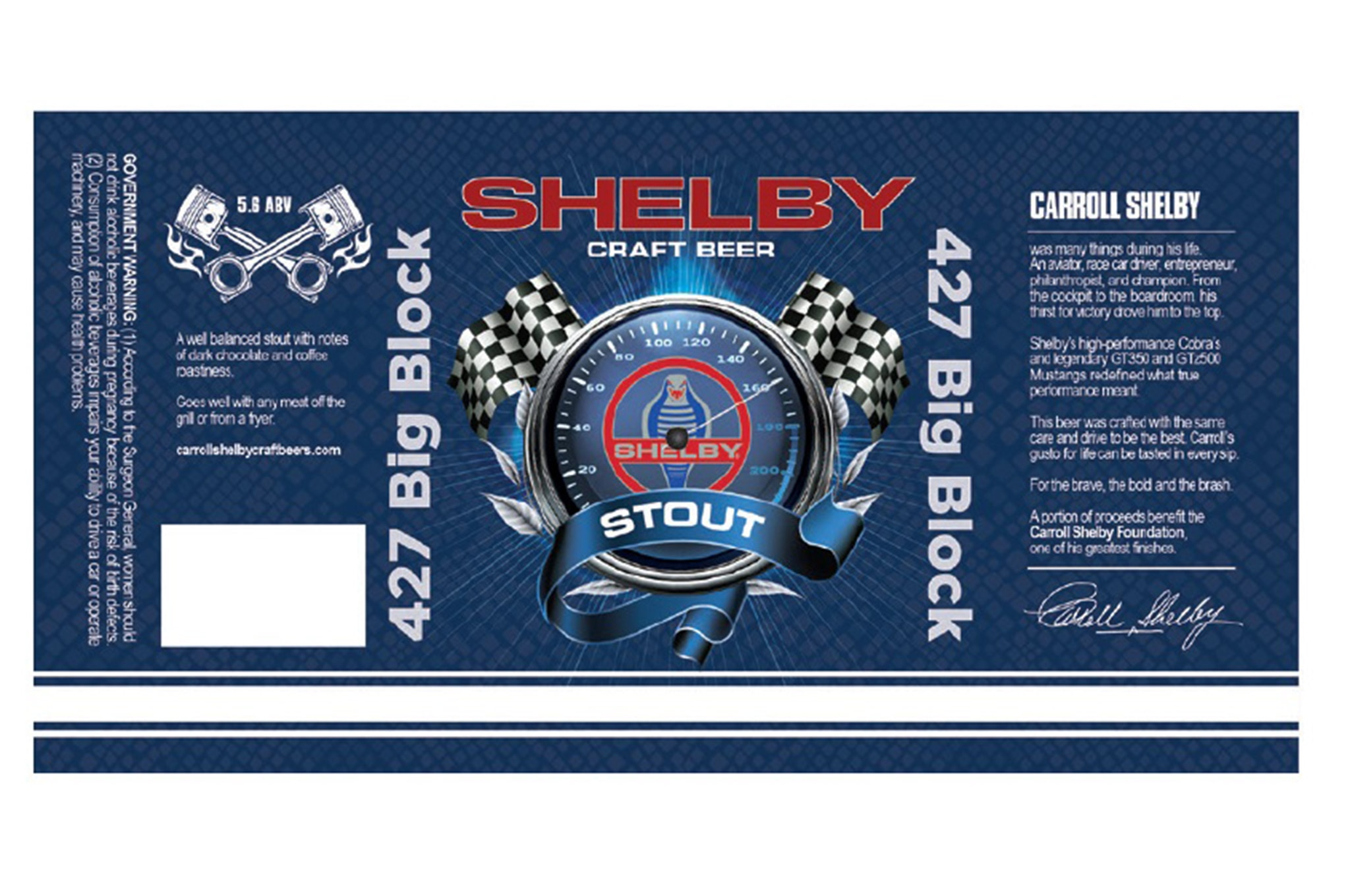 Carroll Shelby Craft Beer 427 Big Block Stout