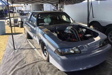 Tony Alm has his 1993 Mustang Coupe running strong in Ultra