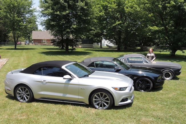 2015 2005 1965 Ford Mustangs Trio