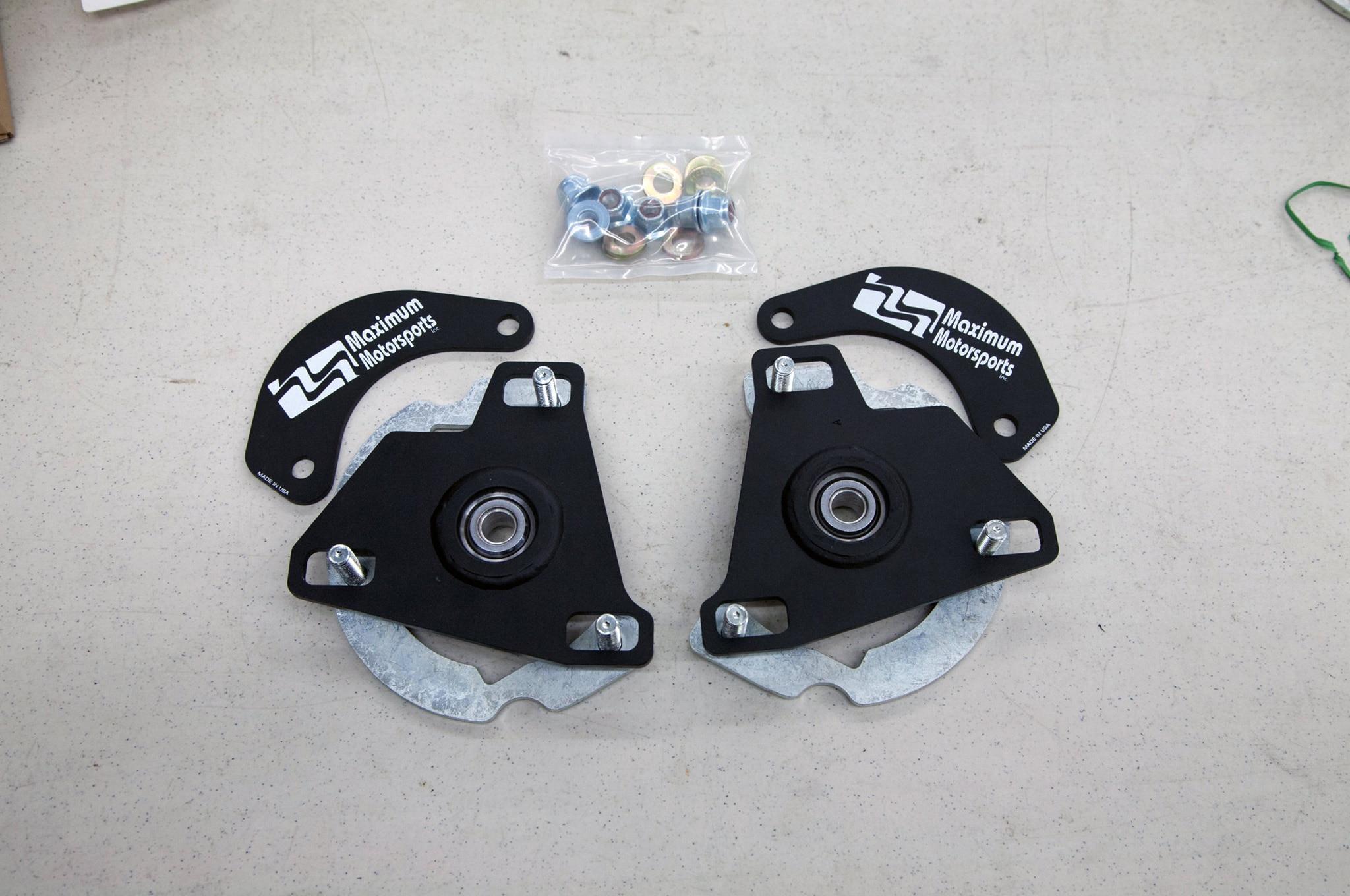 Maximum Motorsports S550 Camber Caster Install 02 Plates
