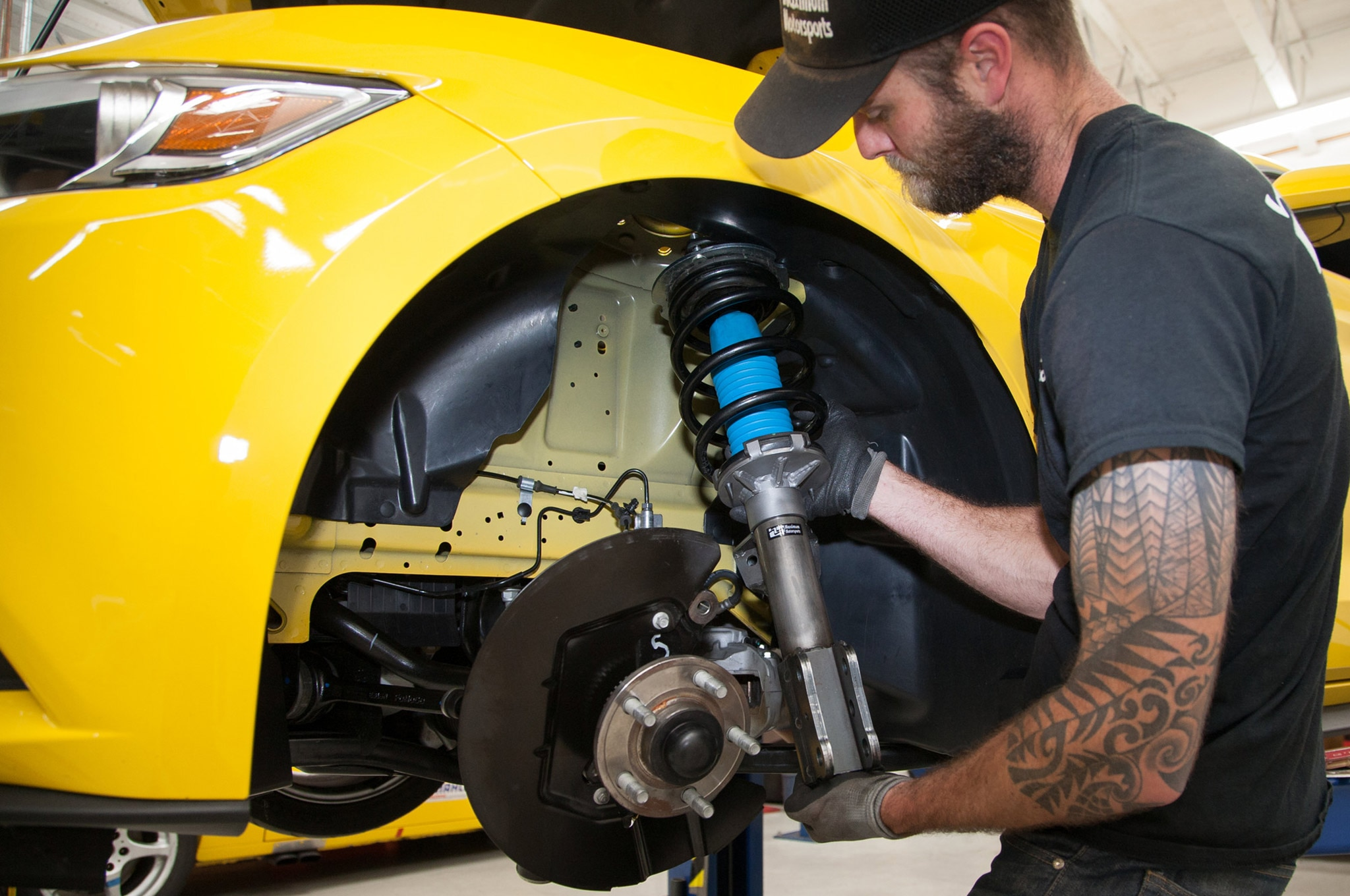 Maximum Motorsports S550 Camber Caster Install 20 Prototype Coilover