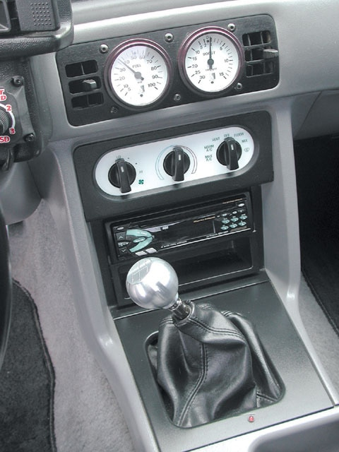 mustang lx 1993 ford console m5lp center