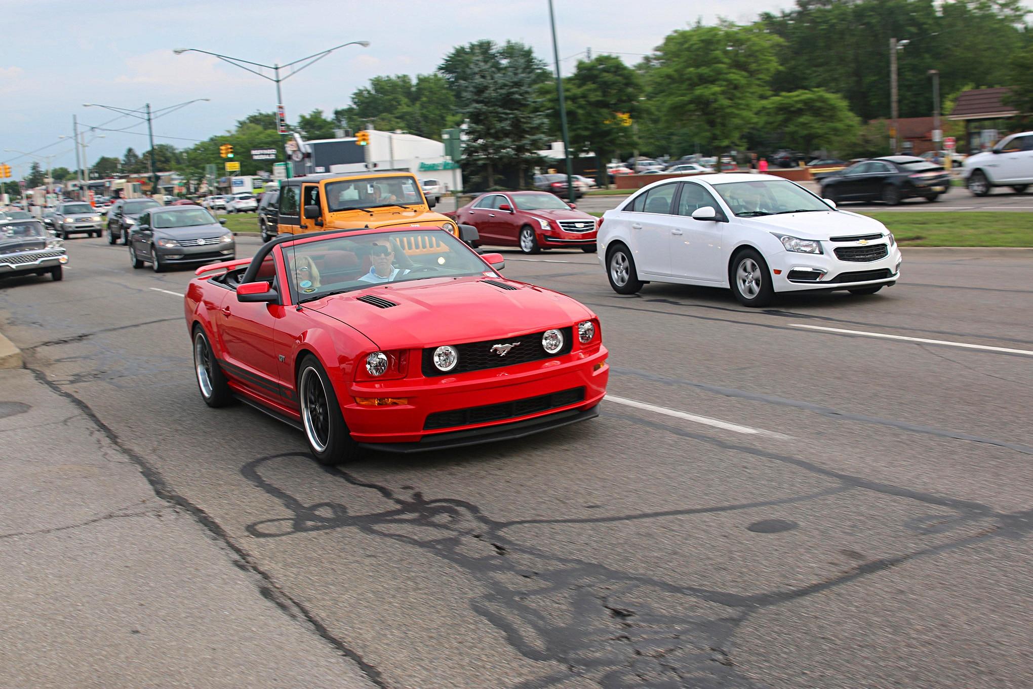 2016 Woodward Dream Cruise Mustangs 050