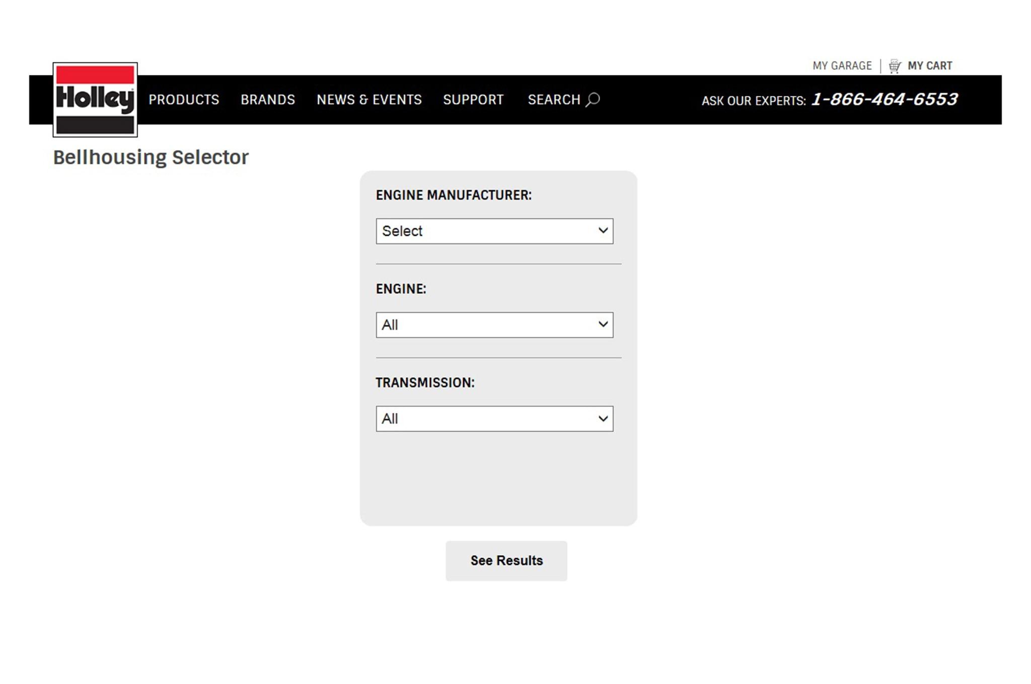 QuickTime Bellhousing Selector