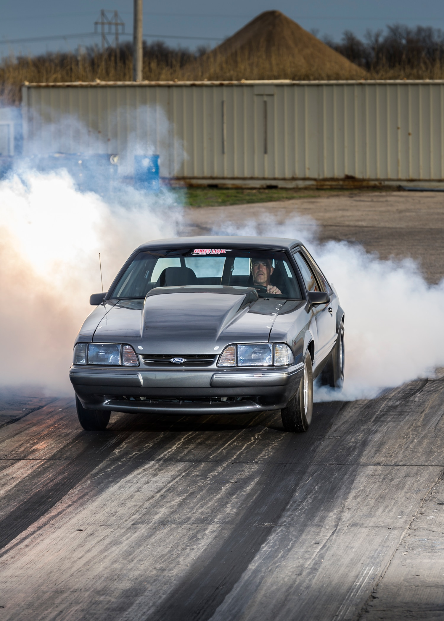 1989 Ford Mustang Coupe Front View 2 Smokeout