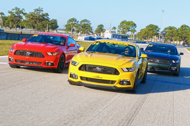 2015 Ford Mustang Steeda Q650 Track Test Group Driving